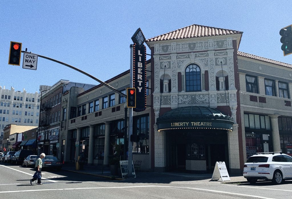 Photo of the Liberty Theatre in Astoria, Oregon - one stop on the Portland to San Fransisco Drive